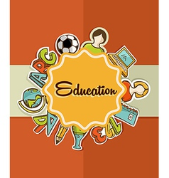 Education label back to school icons vector image vector image