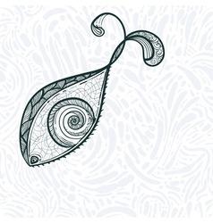 Eye shaped fish vector