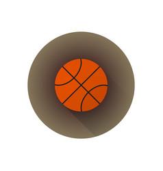 flat color basketball ball vector image vector image