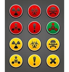 hazard safety sign vector image