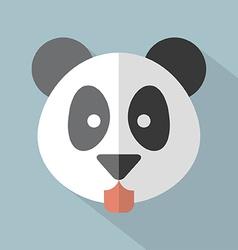 Modern Flat Design Panda Icon vector image
