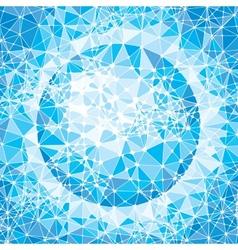 Mosaic globe vector image