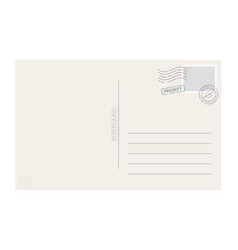 postcard template vector image