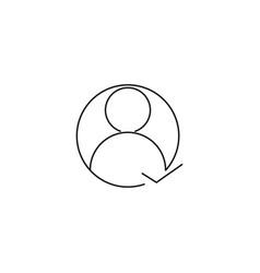 user following icon vector image