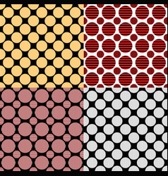 Abstract circle pattern background design vector