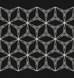 Abstract geometric ornament thin lines triangular vector