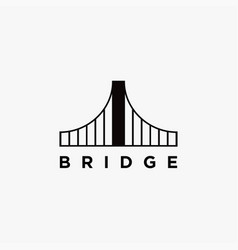 abstract minimalist bridge logo icon template vector image