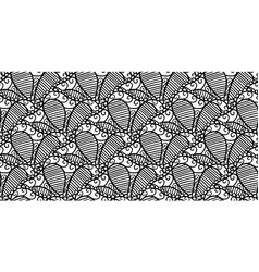 abstract seamless lace pattern vector image