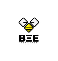 abstract technology bee icon vector image