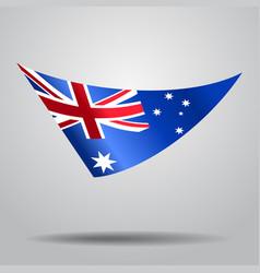 australian flag background vector image