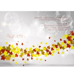 Autumnal leaf background vector image