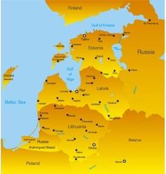 Baltic region countries vector
