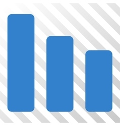 Bar Chart Decrease Icon vector