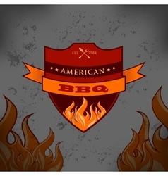 bbq barbecue logo emblem design vector image