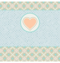 Beautiful valentine card with heart EPS 8 vector image
