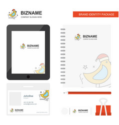 bird business logo tab app diary pvc employee vector image