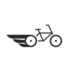 black abstract bike with wings vector image