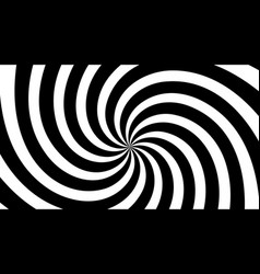 black and white spiral swirl radial background vector image