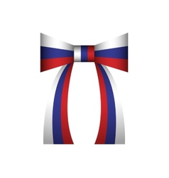 bow Russian flag vector image