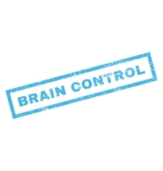 Brain Control Rubber Stamp vector image