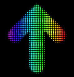 Bright pixel arrow up icon vector