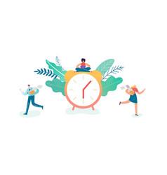 business deadline concept businessman vector image