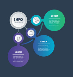 business presentation or info graphics concept vector image