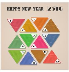 Calendar for 2016 on background vector image