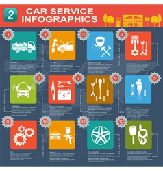 Car service infographics 9 1 vector image