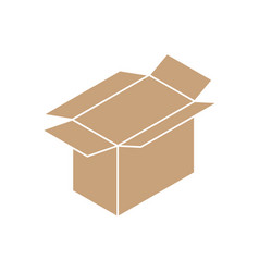 cardboard box open icon sign vector image