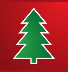 cartoon christmas tree for vector image