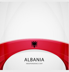 celebrating albania independence day vector image