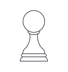 Chess pawn isolated icon vector