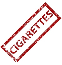 Cigarettes rubber stamp vector