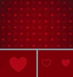 Clean abstract poker background red hearts vector