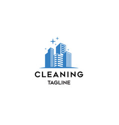 cleaning company logo template vector image