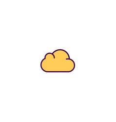 cloud icon design essential icon design vector image
