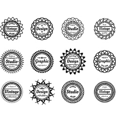 Collection award stamp for design adn graphic vector image vector image