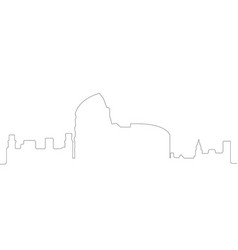 Continous line skyline of rome vector