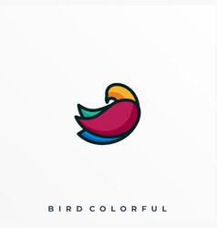 cool bird template vector image