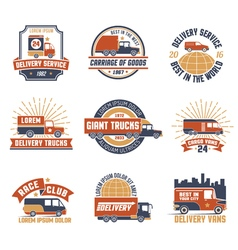Delivery Logo Emblem Set vector image