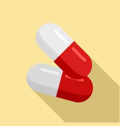 Diabetes capsule icon flat style vector