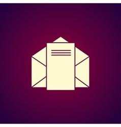 envelope mail symbol Flat design style vector image