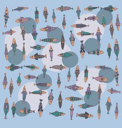 Fish pattern 001-1 vector