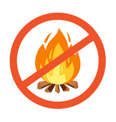 flammable hazard warning symbol design vector image