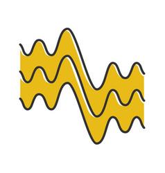 Flowing wavy lines color icon fluid parallel vector