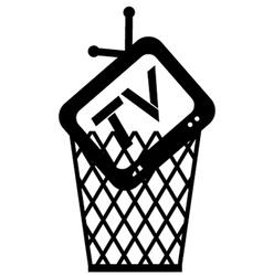 Garbage television vector
