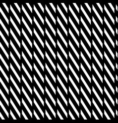 Geometric seamless monochrome pattern with vector