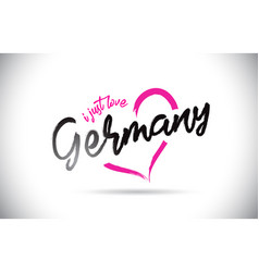 Germany i just love word text with handwritten vector
