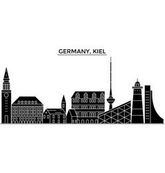 Germany kiel architecture city skyline vector